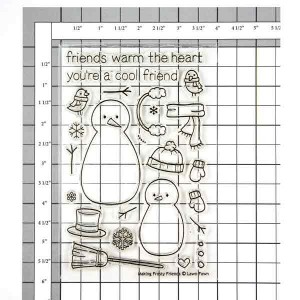 Lawn Fawn Making Frosty Friends Stamp Set class=