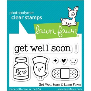 Lawn Fawn Get Well Soon Stamp Set