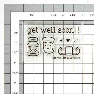 Lawn Fawn Get Well Soon Stamp Set class=