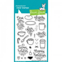 Lawn Fawn Love You A Latte Stamp Set