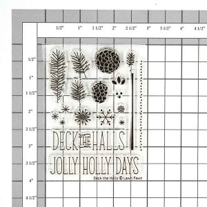 Lawn Fawn Deck the Halls Stamp Set class=