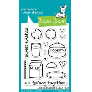 Lawn Fawn Milk and Cookies Stamp Set