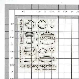 Lawn Fawn Milk and Cookies Stamp Set class=