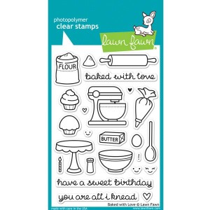 Lawn Fawn Baked with Love Stamp Set