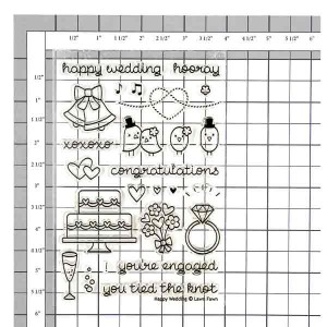 Lawn Fawn Happy Wedding Stamp Set class=