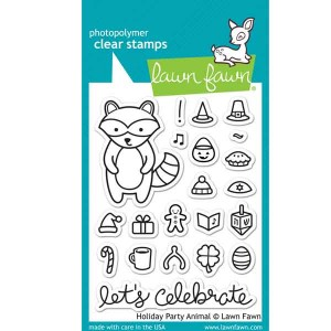 Lawn Fawn Holiday Party Animal Stamp Set