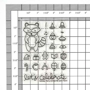 Lawn Fawn Holiday Party Animal Stamp Set class=