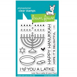 Lawn Fawn Love You A Latke Stamp Set