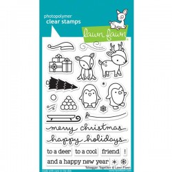 Lawn Fawn Toboggan Together Stamp Set