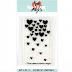 Neat & Tangled Falling Hearts Stamp