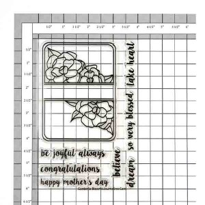 Neat & Tangled Gardenia Blooms Journaling Card Stamp Set class=