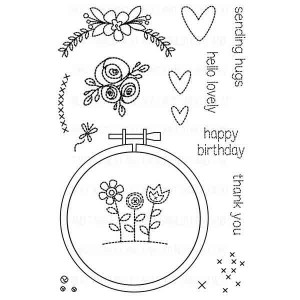 Neat & Tangled Hand Stitched Stamp Set