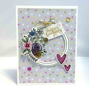 Neat & Tangled Hand Stitched Stamp Set class=