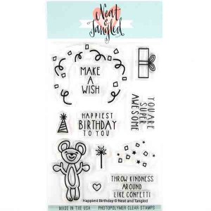 Neat & Tangled Happiest Birthday Stamp Set