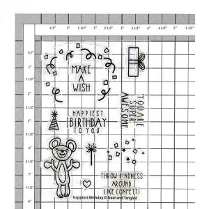 Neat & Tangled Happiest Birthday Stamp Set class=