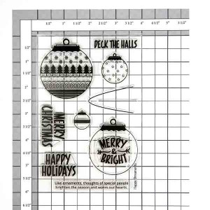 Neat & Tangled Happy Ornaments Stamp Set class=