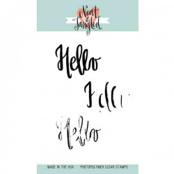 Neat & Tangled Painted Hello Stamp Set