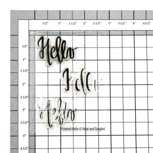 Neat & Tangled Painted Hello Stamp Set class=