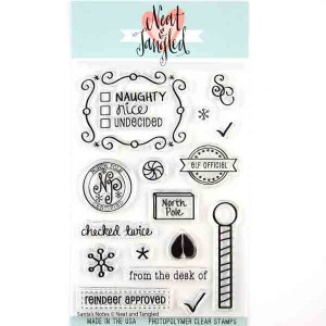 Neat & Tangled Santas Notes Stamp Set