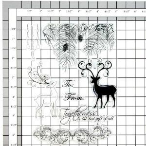 Penny Black Regal Reindeers Stamp Set class=