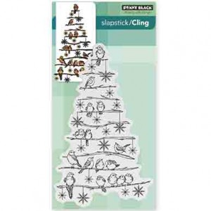 Penny Black Tree Chirps Slapstick Cling Stamp