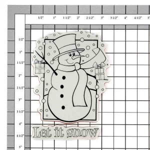 Penny Black Frosty's Wish Cling Stamp class=
