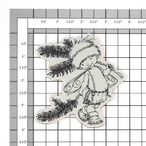 Penny Black Pine Sprite Cling Stamp class=