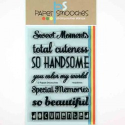 Paper Smooches Headliners Stamp Set