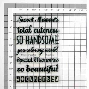 Paper Smooches Headliners Stamp Set class=
