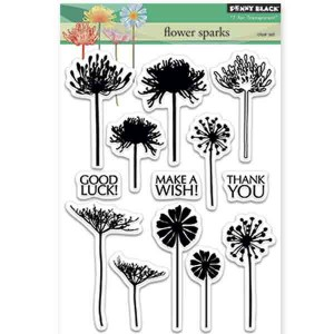 Penny Black Flower Sparks Stamp Set