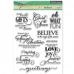Penny Black Believe Stamp Set