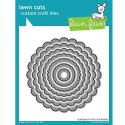 Lawn Fawn Scalloped Circle Stackables Lawn Cuts