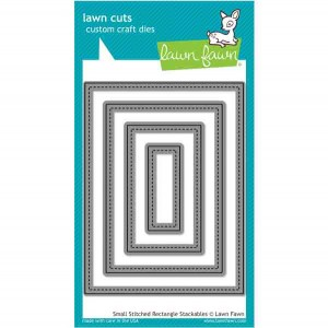 Lawn Fawn Small Stitched Rectangle Stackables Lawn Cuts
