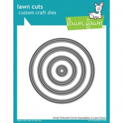 Lawn Fawn Small Stitched Circle Stackables Lawn Cuts