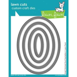Lawn Fawn Small Stitched Oval Stackables Lawn Cuts