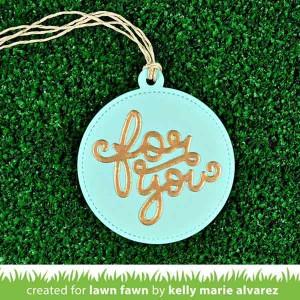 Lawn Fawn Stitched Circle Tags Lawn Cuts class=