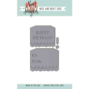 Neat & Tangled Birthday Tags Die