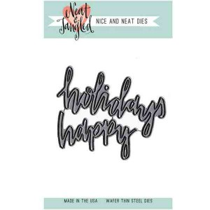 Neat & Tangled Happy Holidays Die