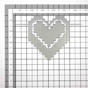 Neat & Tangled Pixelated Heart Die class=