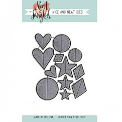 Neat & Tangled Scored Shapes Die Set