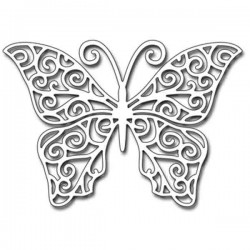 Penny Black Swirling Wings Die