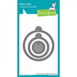 Lawn Fawn Stitched Circle Tags Lawn Cuts