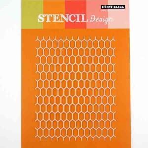 Honeycomb Stencil class=