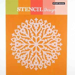 Penny Black Hypnotic Stencil class=