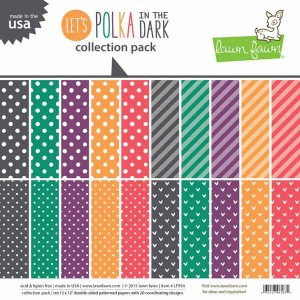 "Lawn Fawn Let's Polka In the Dark Collection Pack - 12"" x 12"""