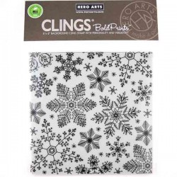 Hero Arts Hand Drawn Snowflakes Bold Prints Background Stamp