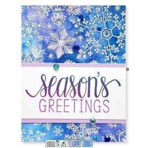 Hero Arts Hand Drawn Snowflakes Bold Prints Background Stamp class=