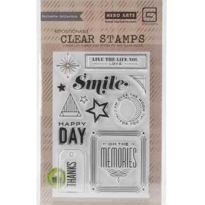 Hero Arts Happy Day Stamp Set