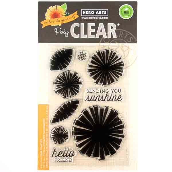 COLOUR LAYERING CLEAR STAMPS GRAPHIC FLOWERS HERO ARTS 9 STAMPS