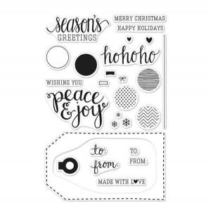 Hero Arts Peace & Joy Stamp Set class=